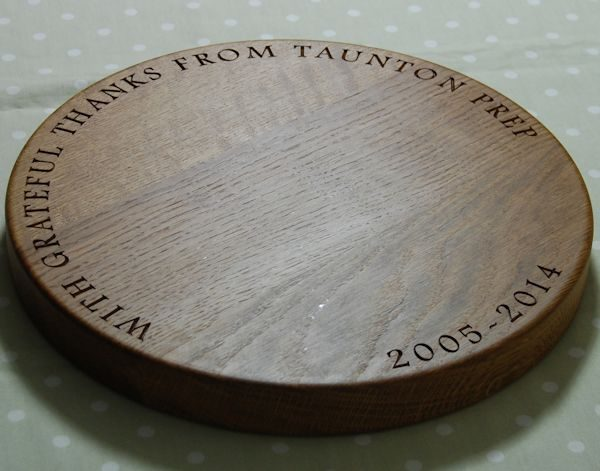 Personalised lazy susan, size 38 dia x 4cm, font Footlight MT