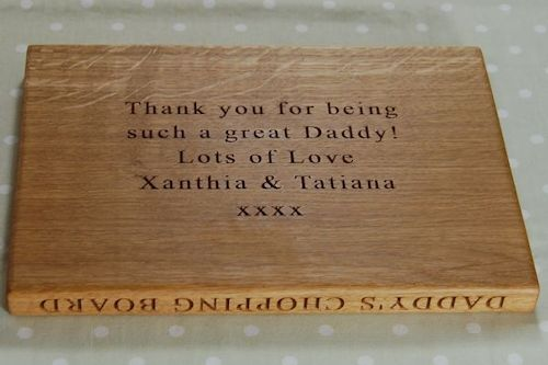 Engraved Chopping Board with Personalised Secret Message