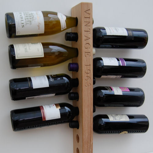 Personalised wooden wine rack