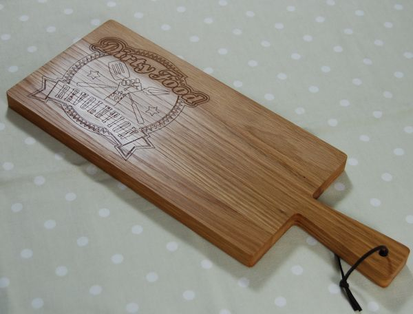 Paddle serving board with logo