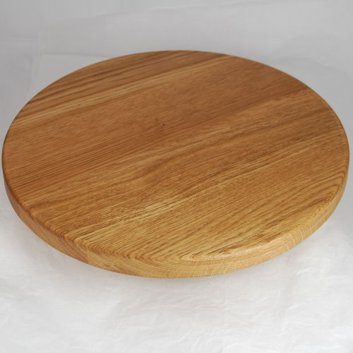 Solid oak lazy susan, size 38cm dia x 2.7cm, add your desired inscription