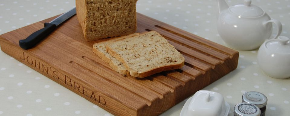 Engraved Wooden Bread Boards