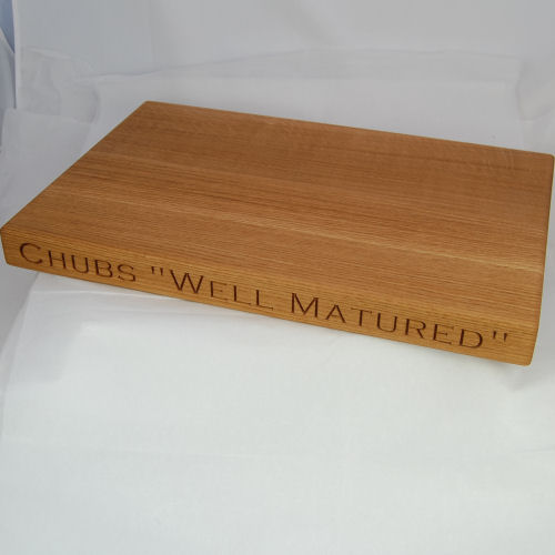 Personalised wooden cheese board, size 30x45x4cm, font Copperplate Gothic Light