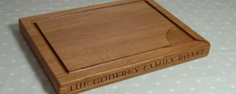Personalised engraved wooden chopping boards the oak chopping board co - Engraved wooden chopping boards ...