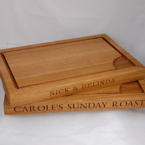 Personalised carving boards