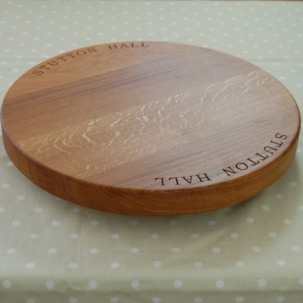 Lazy Susan Platter With Base 42.5 dia x 4cm, font Book Antiqua