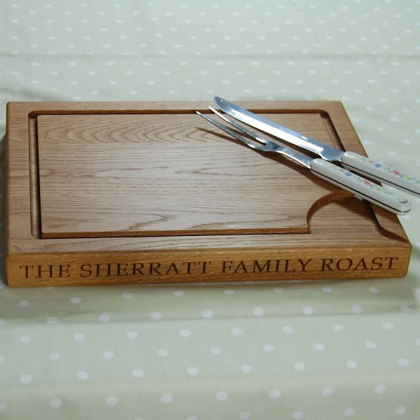 Personalised carving board, size: 30x40x4cm, font Book Antiqua