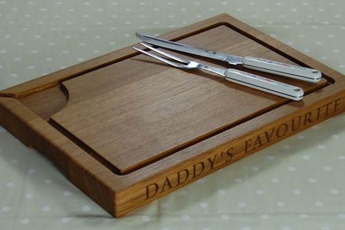Beautiful Personalised Oak Carving Board