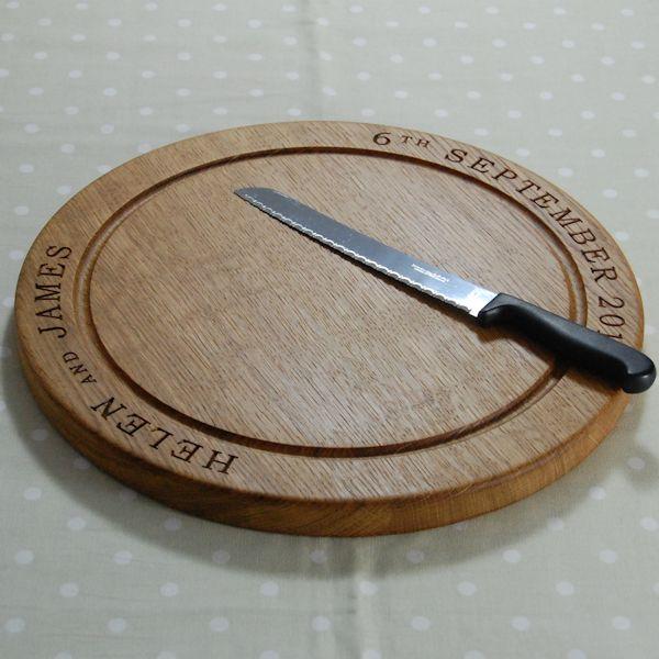 Personalised Wooden Bread Board