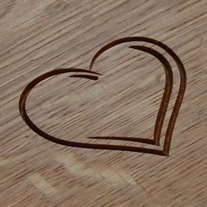 2D Heart engraved motif