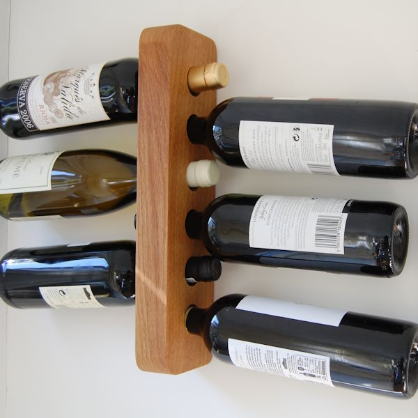 Personalised 6-bottle wooden wine rack