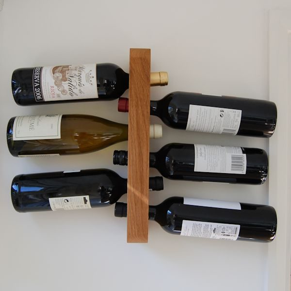 6 Bottle Personalised Wooden Wine Rack