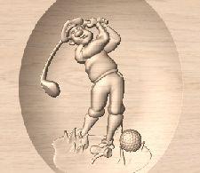 Golfer 3D Motif