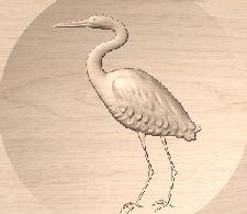 Heron 3D Motif