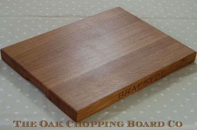 Extra large personalised wooden cheese board, size 38x50x4cm, font Copperplate Gothic Light
