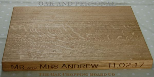 Extra large personalised wooden cheese board