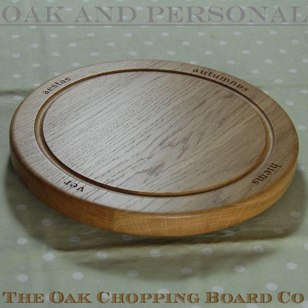 Wooden lazy susan platter, size 30cm dia x 2.7cm, font Book Antiqua