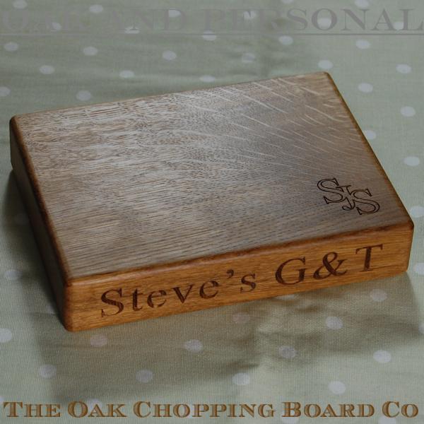 Personalised gin & tonic chopping board