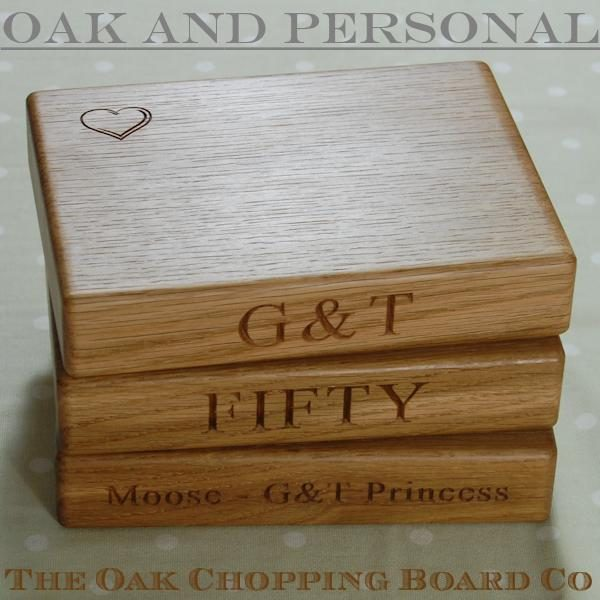 Personalised gin & tonic chopping boards