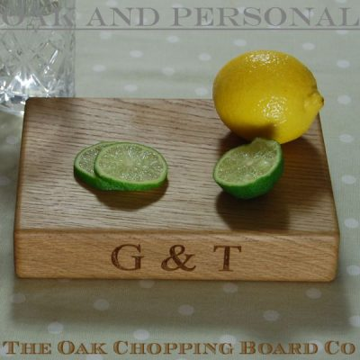 Personalised gin & tonic chopping board