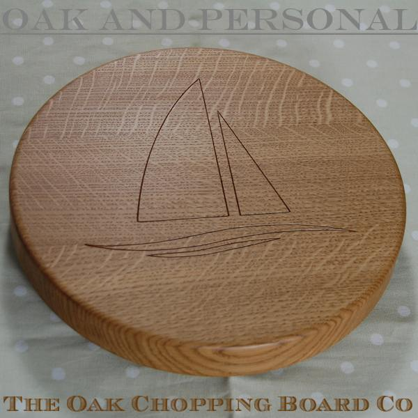 Personalised Lazy Susan with yacht motif