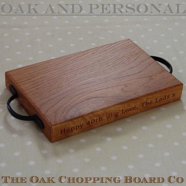 Wooden Cheese Boards ~ Wooden personalised rustic cheese board the oak chopping
