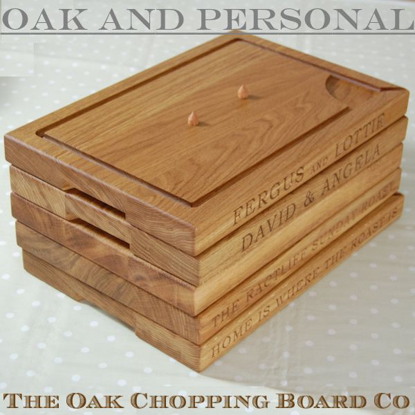 Personalised wooden carving boards