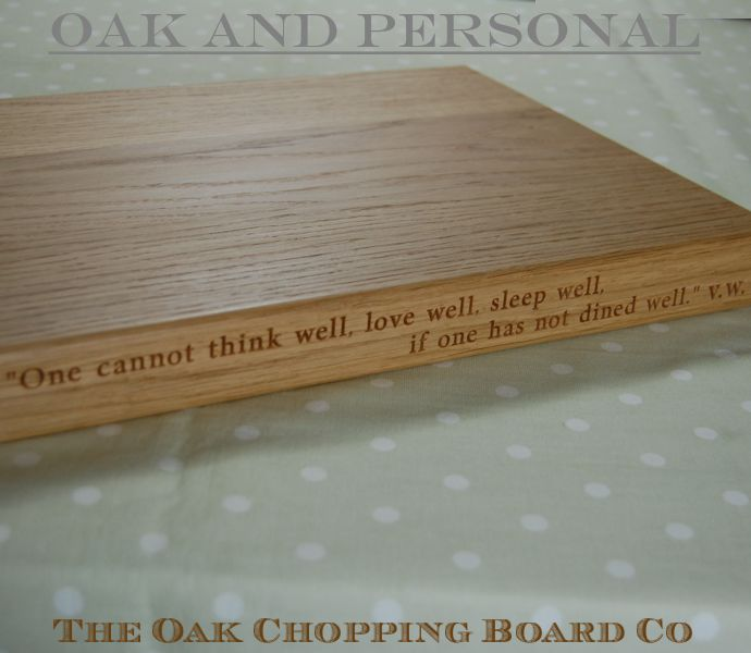 2-Liner personalised chopping board