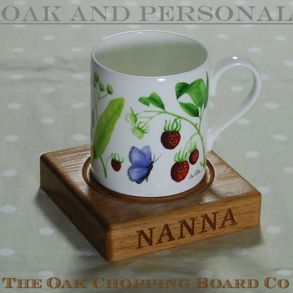 Win a personalised wooden coaster