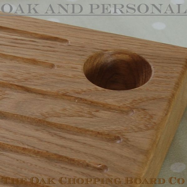 Personalised chunky wooden egg and toast board showing recessed egg cup