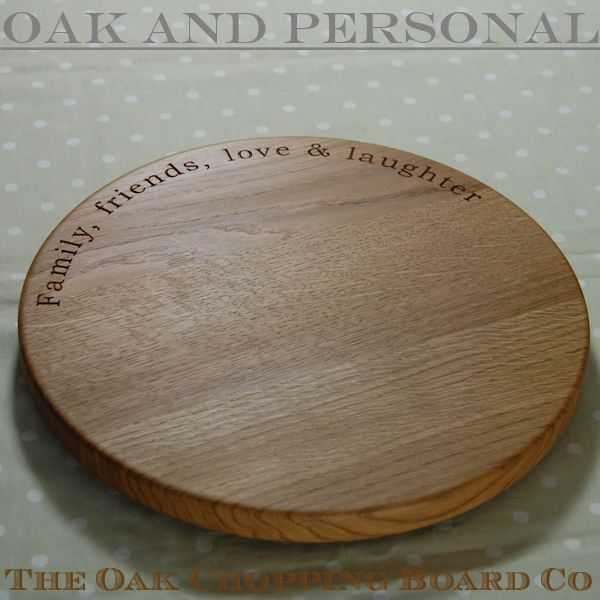 Personalised lazy susan, size 38 dia x 2.7cm, font Bookman Old Style