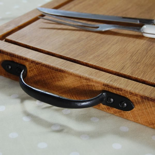 Rustic wooden chopping board, size 30x40x4cm