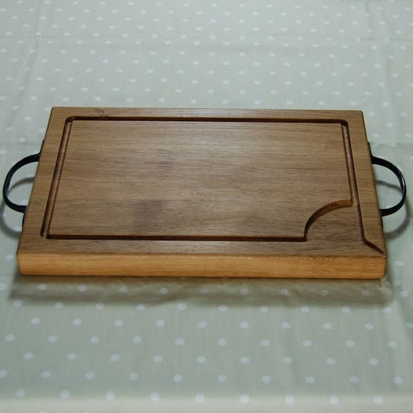 Rustic wooden chopping board, size 30x45x4cm