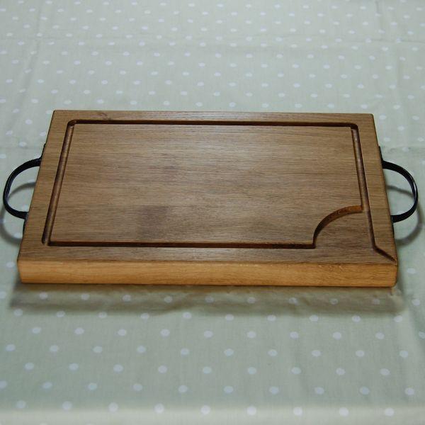 Rustic wooden chopping board, size 30x45x4cm