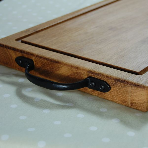 Rustic wooden chopping board, size 30x40x4cm