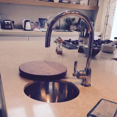 Bespoke sink top chopping board