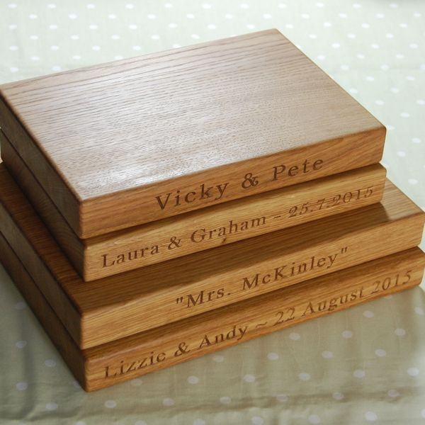 Personalised wooden cheese boards