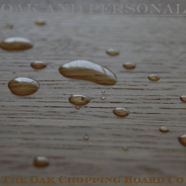 Water beads on oak treated with OSMO TopOil