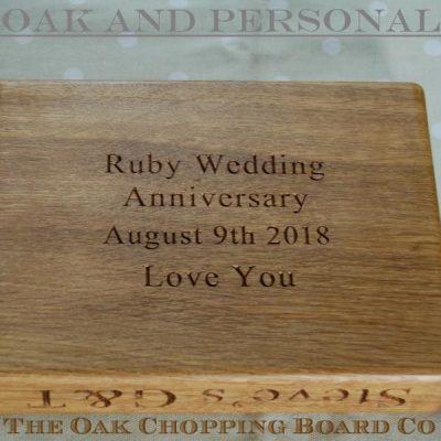 Wedding anniversary Gin & Tonic chopping board
