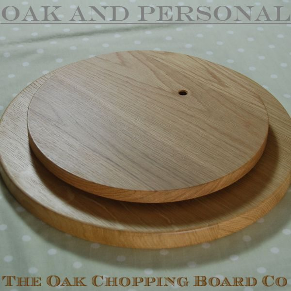 Wooden Lazy Susan Platter 38 dia x 2.7cm, underneath may be engraved with special message