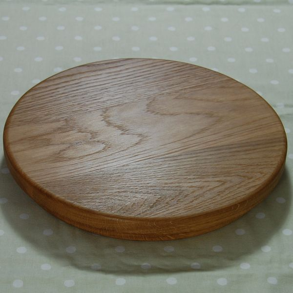 Circular wooden sink chopping board, size 30 dia x 4cm