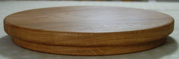Circular wooden sink chopping board, size 30 dia x 4cm